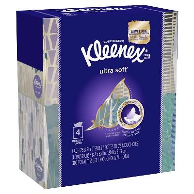 Kleenex Ultra Soft Facial Tissue - 4pk / 75ct