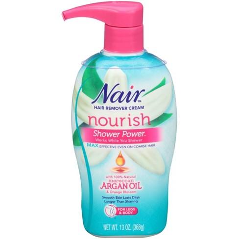 Nair Hair Remover Cream Nourish Shower Power Moroccan Argan Oil 13oz Target