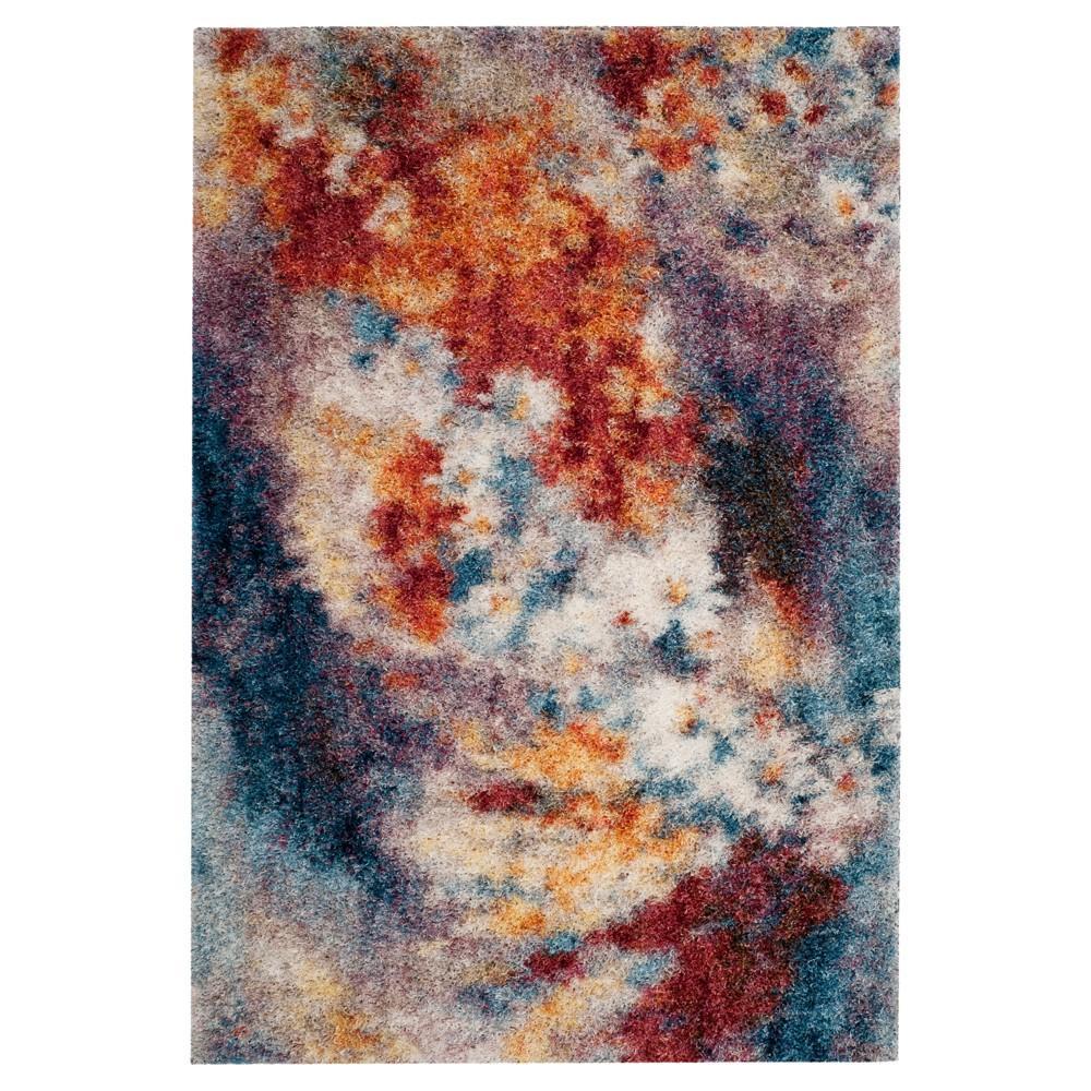 Rust/Ivory Dip Dye Design Loomed Area Rug 9'X12' - Safavieh, Red White