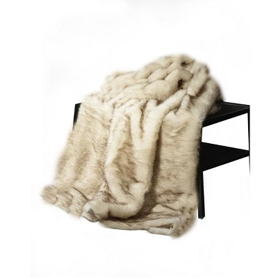 "De Moocci Mink Faux Fur Throw - 50""x60"""