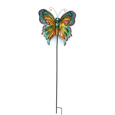 59 H Metal Butterfly Stake - Backyard Expressions