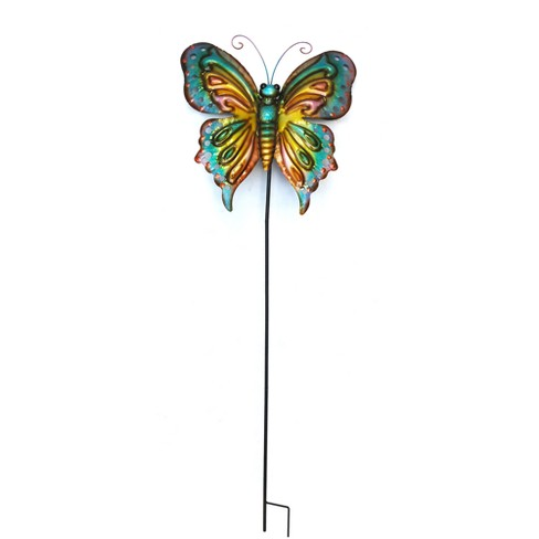 "59""H Metal Butterfly Stake - Backyard Expressions - image 1 of 1"