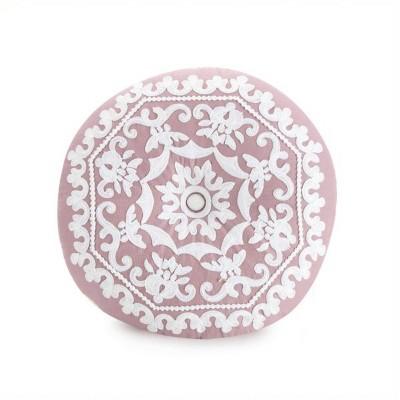 """16"""" Round Throw Pillow Purple/White - Jessica Simpson"""