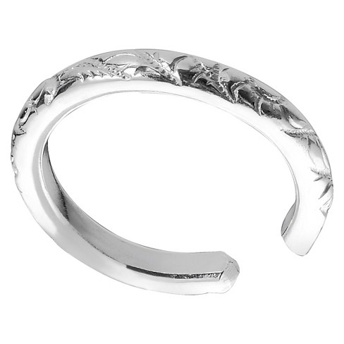 Women's Journee Collection Textured Ear Cuffs in Sterling Silver - Silver - image 1 of 1