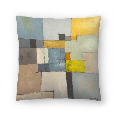 Americanflat Abstract 10 by Hans Paus Throw Pillow