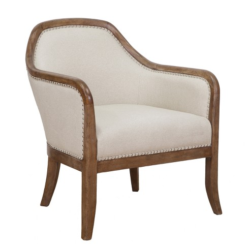 Farmhouse Style Beige Accent Chair - Beige - Pulaski - image 1 of 5
