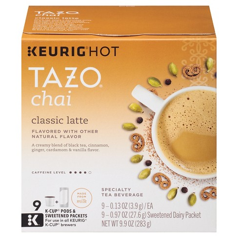 Tazo® Classic latte Flavored Tea K-Cup Pods - 9ct - image 1 of 4