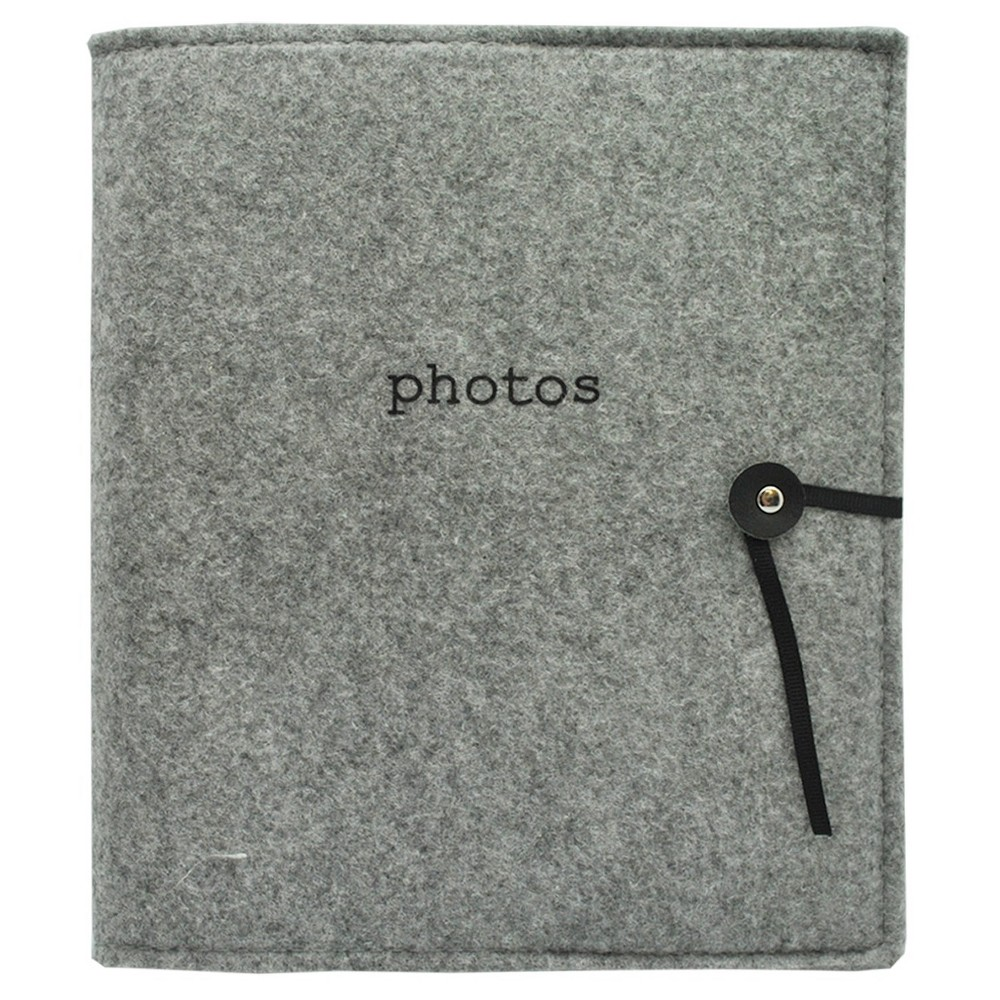 "Image of ""Felt Photo Album Gray - Holds Two 4""""x6"""" Photos per Page"""