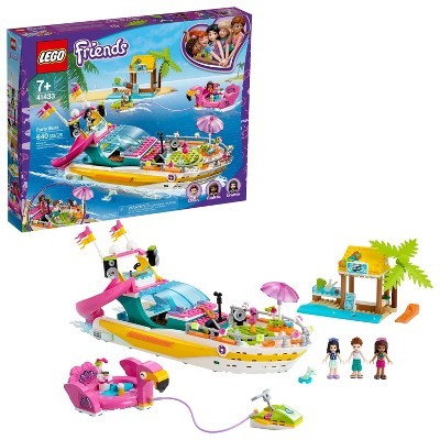 LEGO Friends Party Boat; Playset Helps Kids Enjoy Getaway Play and Hours of Ocean-Themed Fun 41433