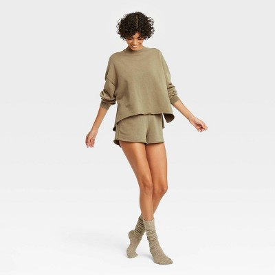 Women's French Terry Crewneck Lounge Sweatshirt - Colsie™