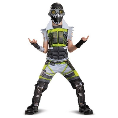 Kids' Apex Legends Octane Halloween Costume Muscle Jumpsuit M (7-8)