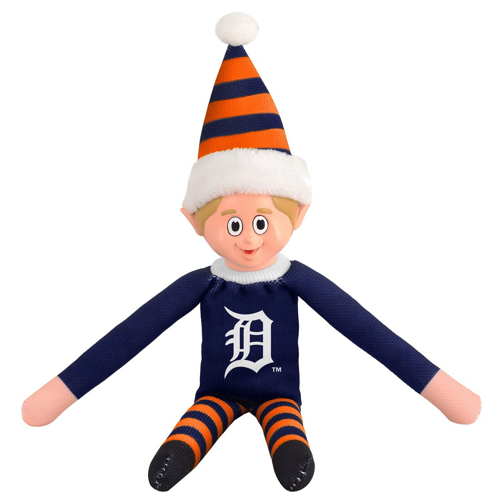 Forever Collectibles Detroit Tigers Elf Forever Collectibles - MLB Team Elf, Detroit Tigers - This Forever Collectibles Team Elf with provide hours of joy and holiday cheer for all. This officially licensed elf is sporting your favorite team's logo on his sweatshirt and a Santa hat for the season. Start a new tradition this year with your 2015 team elf! Age - 3 and up. Team elf is approximately 14 inches tall.