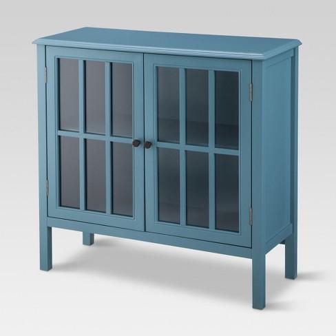 Windham 2 Door Accent Cabinet Teal - Threshold™ - image 1 of 3