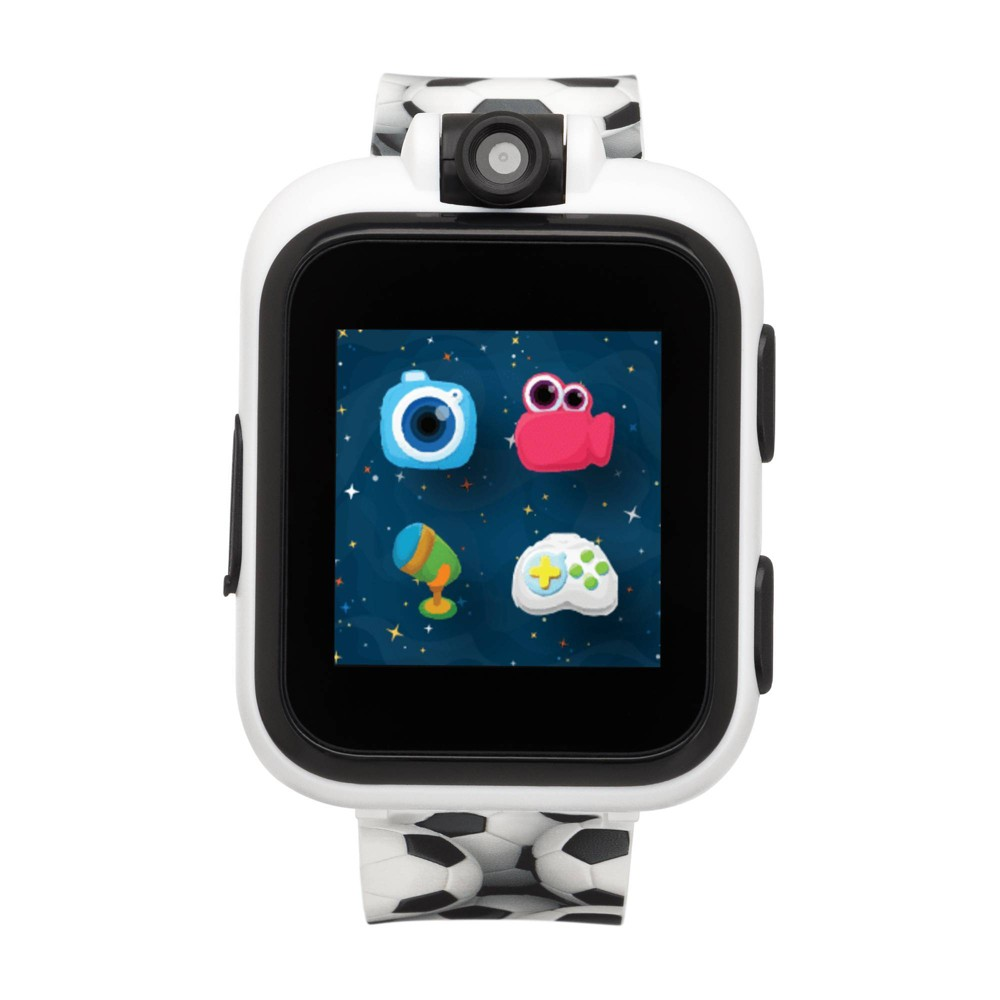 iTouch PlayZoom White Smartwatch for Kids Soccer Print 42mm