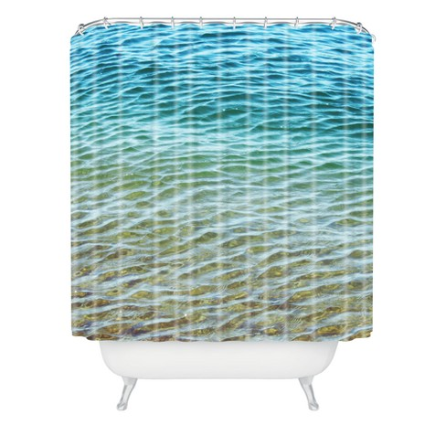 Shannon Clark Ombre Sea Shower Curtain Blue - Deny Designs - image 1 of 2