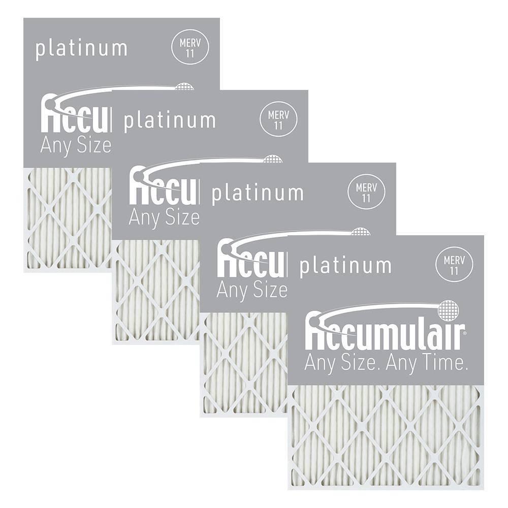 Accumulair 4pk 14x30x1 Merv 11 Platinum Filters