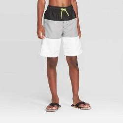 Boys' Tiered Trunks Swim Trunks - Cat & Jack™ Gray