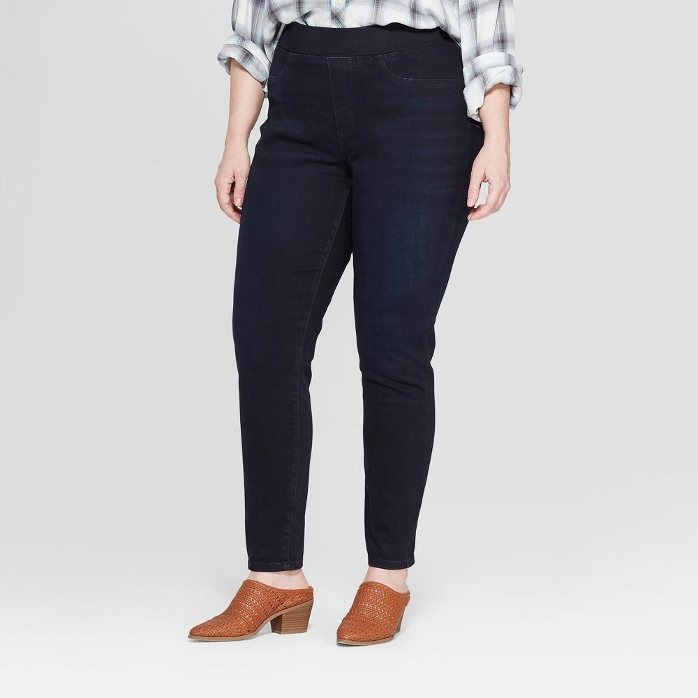 Women's Plus Size Pull On Jeggings - Universal Thread Dark Wash 26W, Blue