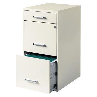 HIRSH 3-Drawer File Cabinet Steel
