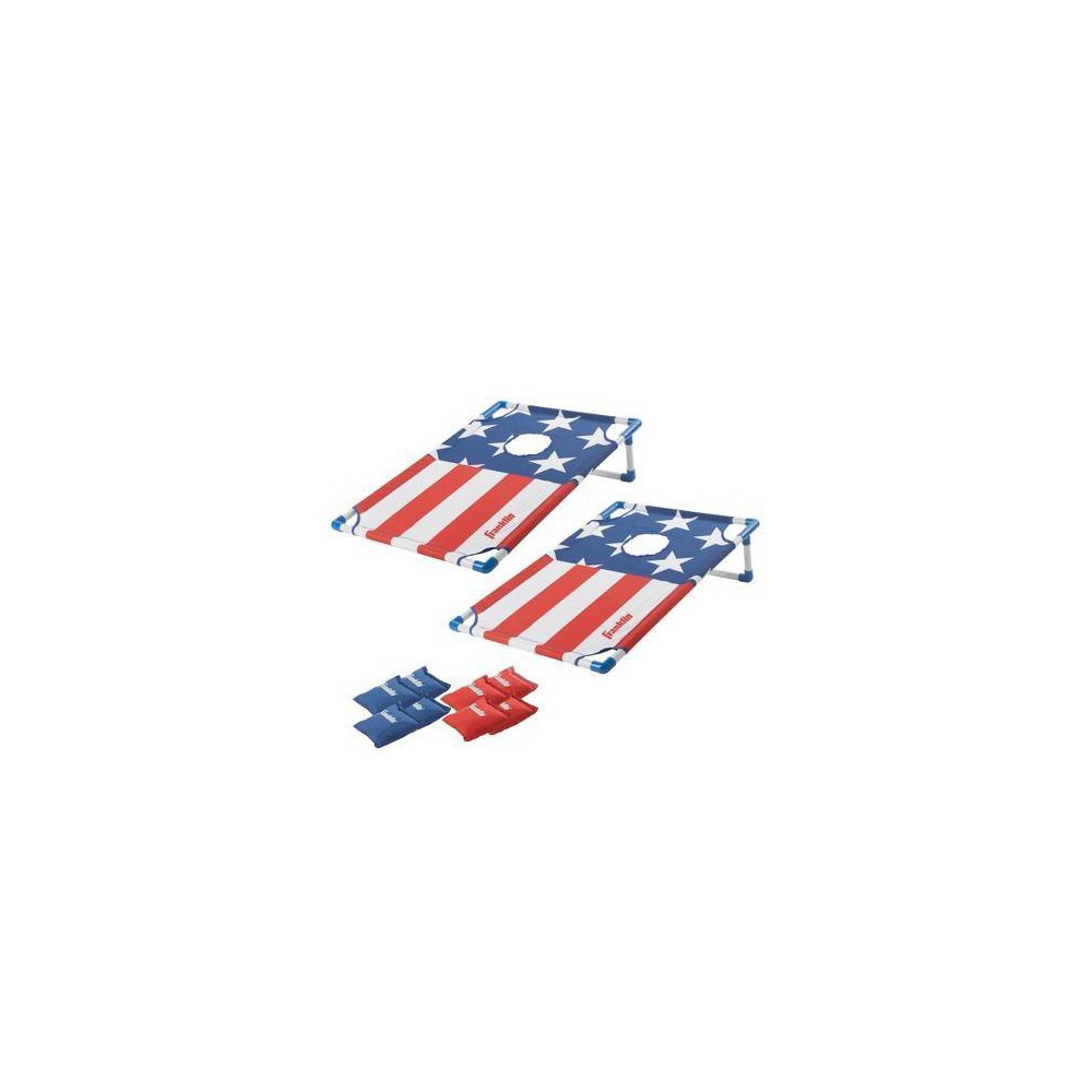 Franklin Sports Red, White & Blue Badminton Cornhole