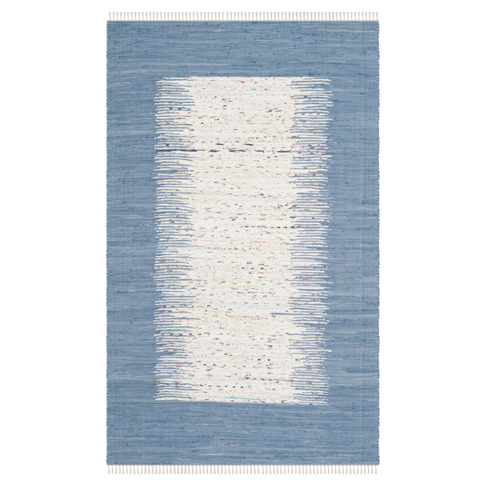 Bettina Flatweave Area Rug - Ivory / Dark Blue (5' X 8') - Safavieh