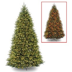 12ft National Christmas Tree Company Pre-Lit Dunhill Fir Full Artificial Christmas Tree with 1200 Dual Color LED Lights & Powerconnect