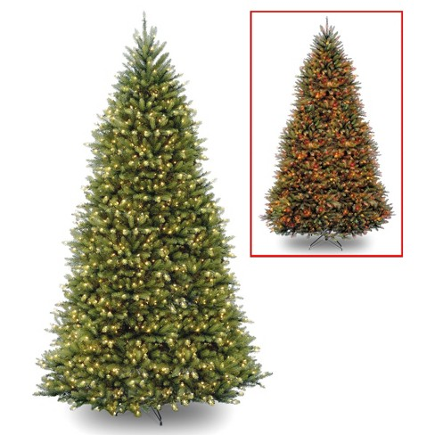 12ft National Christmas Tree Company Pre-Lit Dunhill Fir Full Artificial Christmas Tree with 1200 Dual Color LED Lights & Powerconnect - image 1 of 4