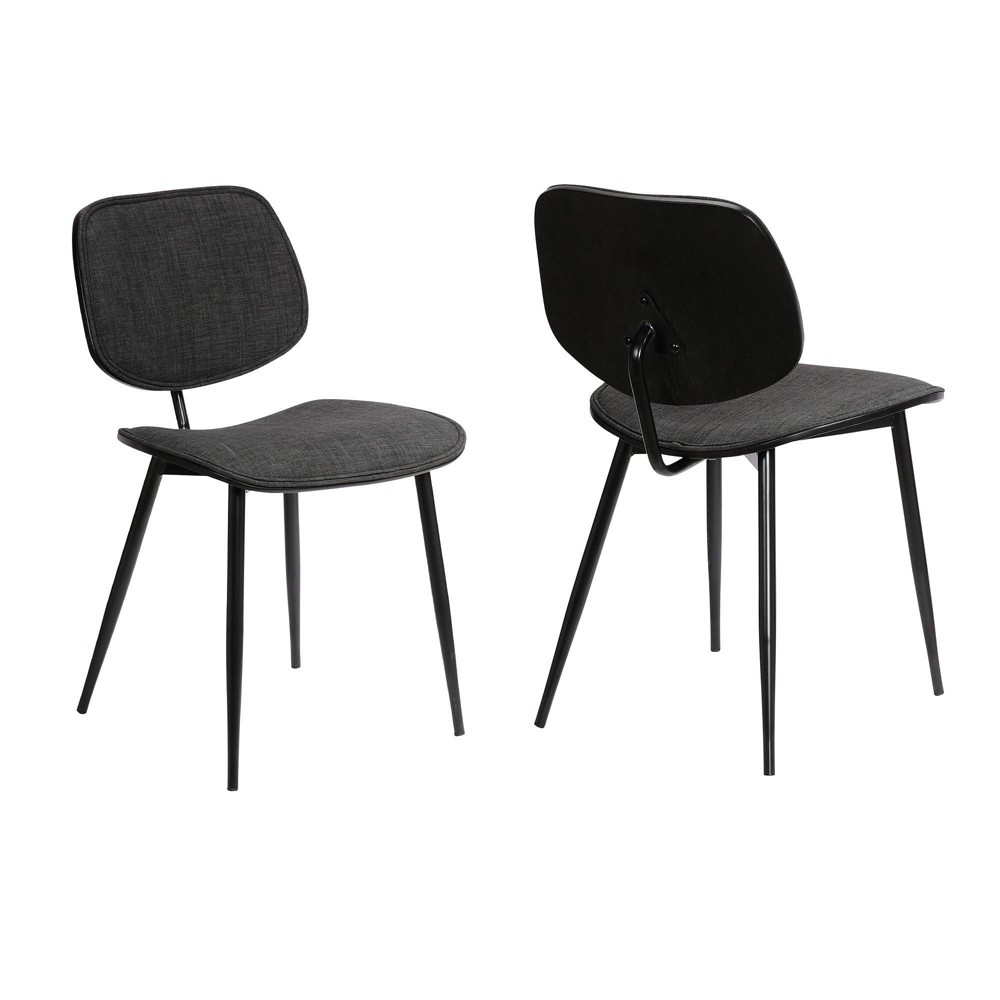 Best Set of 2 Lizzy Modern Dining Accent Chairs  - Armen Living