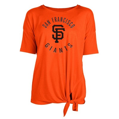 MLB San Francisco Giants Women's Poly Rayon Front Knot T-Shirt