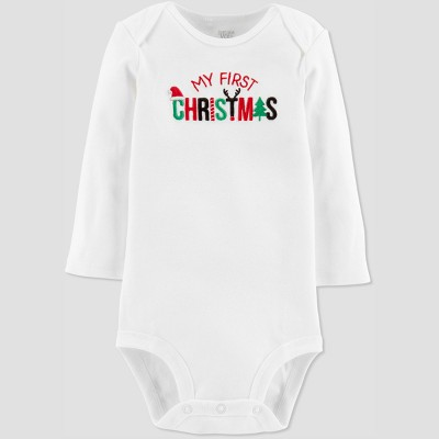 Baby's My First Christmas Bodysuit - Just One You® made by carter's White 3M