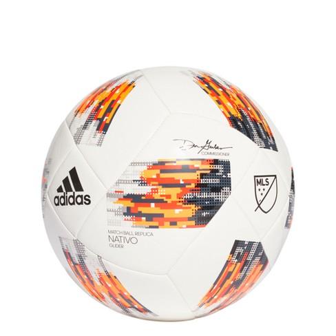 Adidas MLS Glider Size 5 Soccer Ball - White/Solar Orange - image 1 of 4
