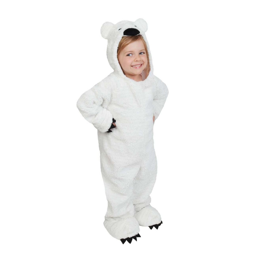Baby Plush Polar Bear Jumpsuit Costume 6-12M - Wondershop, Infant Unisex, White