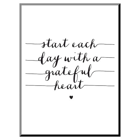Start Each Day With A Grateful Heart Mounted Print - image 1 of 2