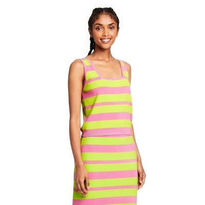 Women's Striped Tank Top - Victor Glemaud x Target Pink/Green