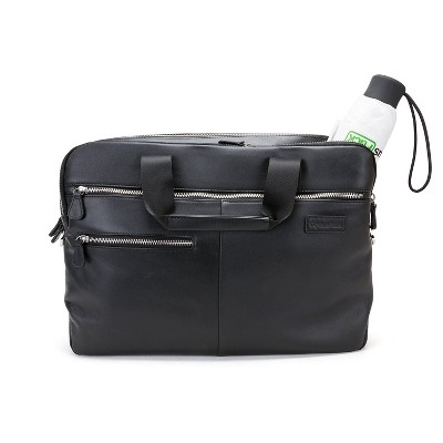 Genius Pack Luxe Leather Laptop Briefcase