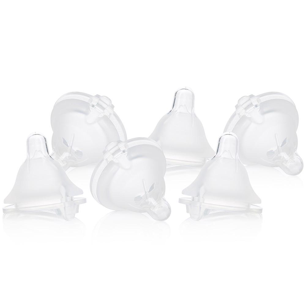 Evenflo Balance + Wide Nipple Fast Flow 6pk, Clear