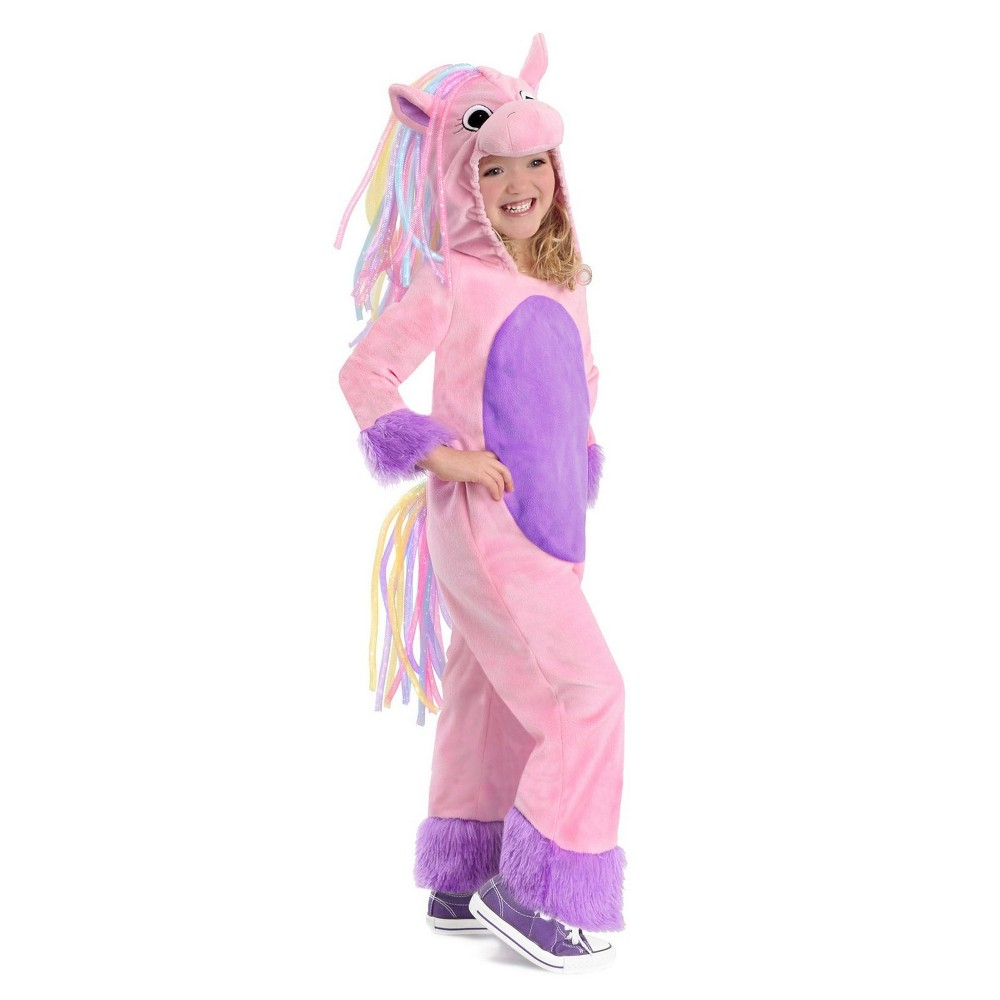 Image of Halloween Girls' Rainbow Pony Halloween Costume - Princess Paradise, Girl's, Size: Small, MultiColored