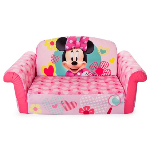 Marshmallow Furniture Children S 2 In 1 Flip Open Foam Sofa Minnie