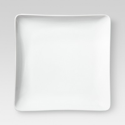 Square Porcelain Salad Plate 8   White - Threshold™