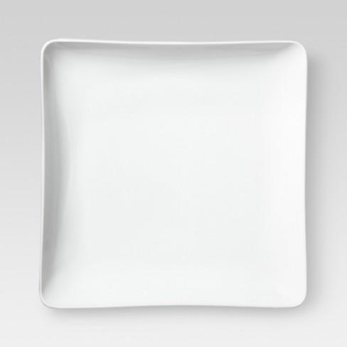 "8"" Porcelain Square Salad Plate White - Threshold™ - image 1 of 1"
