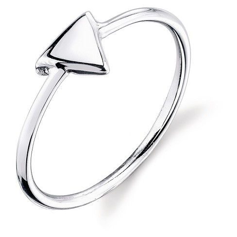 Women's Sterling Silver Polish Triangle Ring - Silver - image 1 of 1