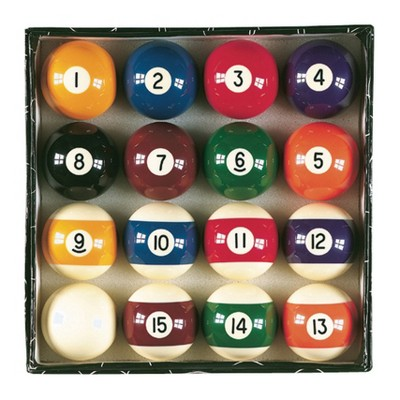 Viper High Quality Solid Resin Billiard Master Complete 2.25 Inch Regulation Sized Traditional 16 Pool Ball Set