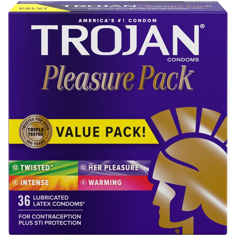 Trojan Pleasure Pack Lubricated Condoms 36ct