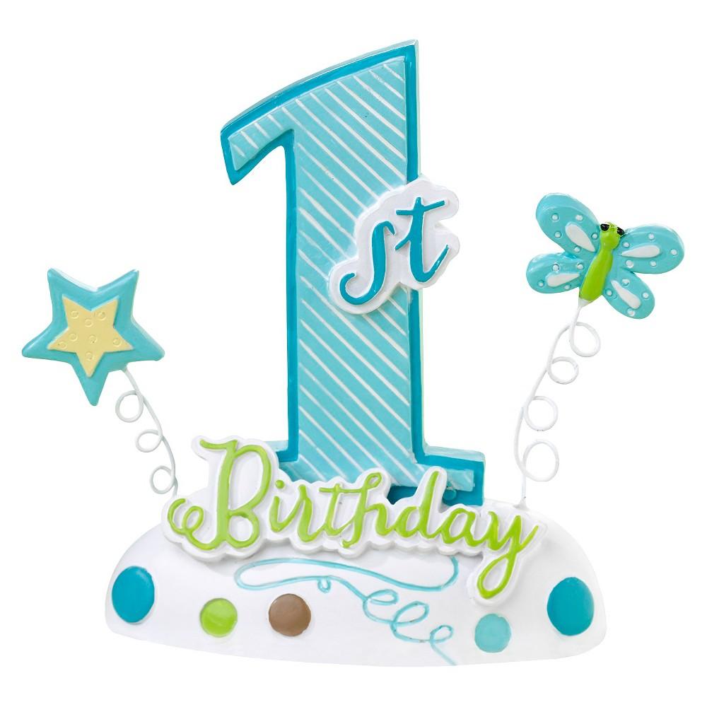 '1st Birthday' Baby Cake Topper Blue
