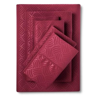 King 6pc Natalia Cavalletto Swirl Design Sheet Set Burgundy - Christopher Knight Home