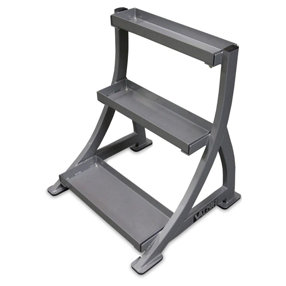 Valor Fitness BG-21 Kettle Bell Rack, Silver