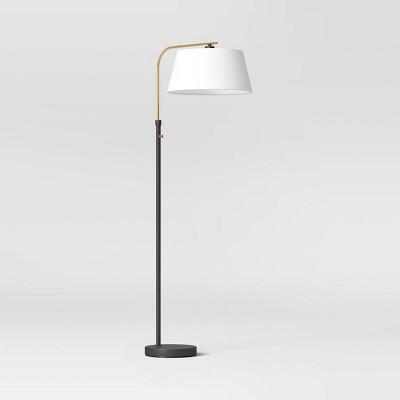 Downbridge Floor Lamp Brass/Black (Includes LED Light Bulb) - Threshold™