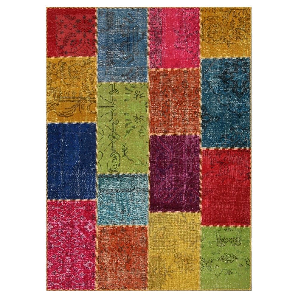 "Image of ""Antique Patchwork Area Rug 5'3""""x7'3"""""""