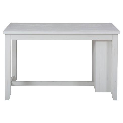 Madaket Counter Height Table With 3 Shelf Storage Woodwhite