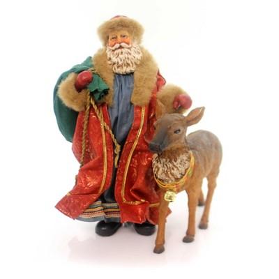 Possible Dreams A Peaceful Eve Set / 2 Santa Reindeer  -  Decorative Figurines